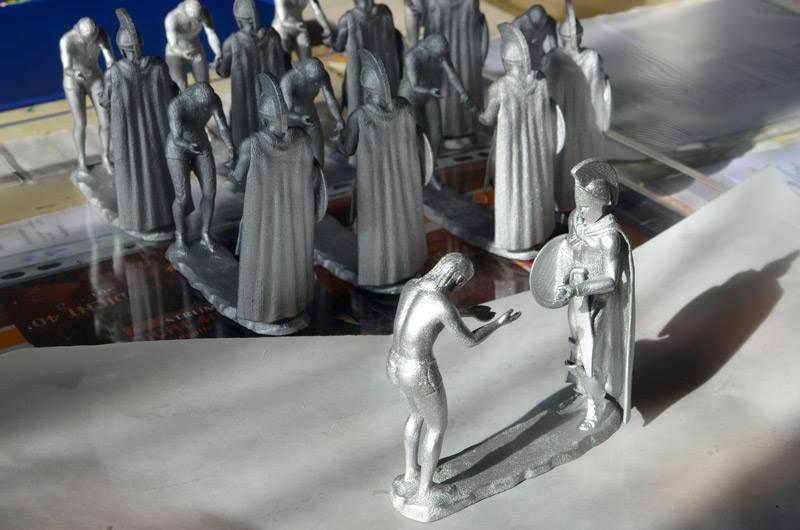 3D Drucke versilbert Impera Tombstone